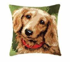 Daschund Cushion Front - Cross Stitch Kit by Vervaco, http://www.amazon.co.uk/dp/B004JX32W2/ref=cm_sw_r_pi_dp_AAo.sb0K4TFBV