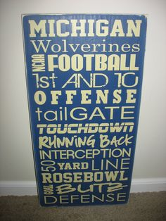 Michigan Football Subway Art Board