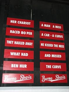 ~ Burma Shave Road Signs...on OLD Route 66...miss them! ~