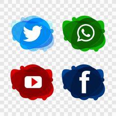 Design Stand, Icon Design, Set Design, Social Media Buttons, Social Media Logos, Street Marketing, Modele Flyer, Islamic Cartoon, Backdrop Design