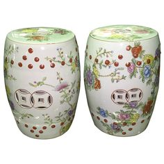 Pair of Chinese Garden Drum Tables or Stools | From a unique collection of antique and modern ceramics at https://www.1stdibs.com/furniture/asian-art-furniture/ceramics/