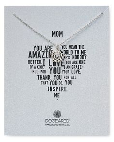 perfect necklace for mom on mother's day