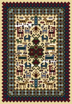 Gelim (13) Embroidery Patterns, Cross Stitch Patterns, Embroidery Thread, Crochet Needles, Floral Rug, Cross Stitch Designs, Hama Beads, Couture, Rugs On Carpet