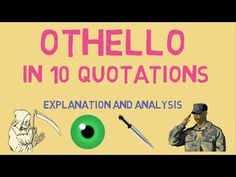 Dr Aidan, PhD in Shakespeare, provides you with the 10 Key Quotes in OTHELLO that will help you to unlock the play and strengthen your . Othello Quotes, Shakespeare Stories, Key Quotes, Ap Literature, Important Quotes, Homeschool High School, Middle School, Quotations