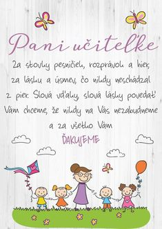 Deň učiteľov Diy And Crafts, Crafts For Kids, In Kindergarten, Kids And Parenting, Montessori, Activities For Kids, Preschool, Presents, Language
