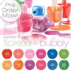 Zoya Nail Polish Tickled & Bubbly - Summer 2014: http://www.zoya.com/content/category/Zoya_Tickled_Bubbly_Summer_2014_Nail_Polish_Collection.html