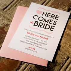 Heart Bridal Shower Invitation. $17.00, via Etsy.    bridal shower invites
