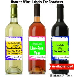 Honest Wine Labels for Teachers - @toulouseandtonic