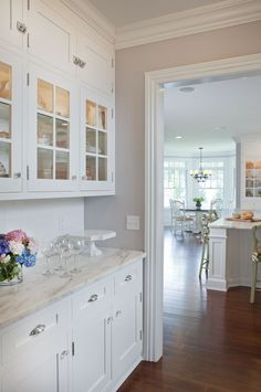 Butlers pantry Classic Hamptons Style - by Kitchen Designs by Ken Kelly, Long Island, NY