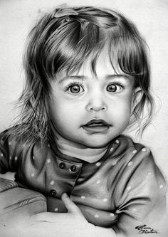Pin by mary frattaroli 2 on art: pencil, pen, charcoal, chalk карандаш, рис Amazing Drawings, Realistic Drawings, Colouring Pics, Adult Coloring Pages, Graphite Art, Baby Clip Art, Baby Drawing, Black And White Drawing, Pencil Portrait