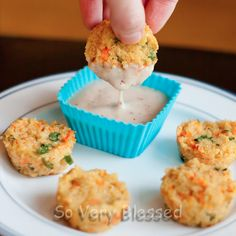 Cheesy Quinoa Bites. I bought quinoa a while ago but have never used it. These might be good to try.