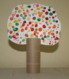 Klorolle Basteln Baum Papier Kinder