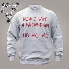 Now I Have A Machine Gun Sweater Movie Jumper  Film by Spicetag