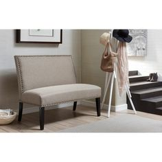 Shop for Brown Upholstered Nail Head Trim Banquette Bench. Get free shipping at Overstock.com - Your Online Furniture Outlet Store! Get 5% in rewards with Club O!