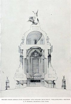 Image result for amazing hand drawn architectural sections