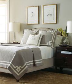 Sweet dreams in this white & pewter bedroom ensemble from Legacy Linens