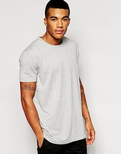 ASOS Longline T-Shirt With Crew Neck And Relaxed Skater Fit