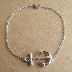 Anchor Chain Bracelet, Simple Everyday Jewelry, Elegant gift,