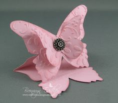 Butterfly easel card.  Could make smaller ones for place cards