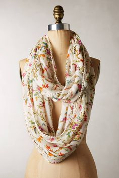 Blumen Infinity Scarf - anthropologie.com. Such a lovely scarf.