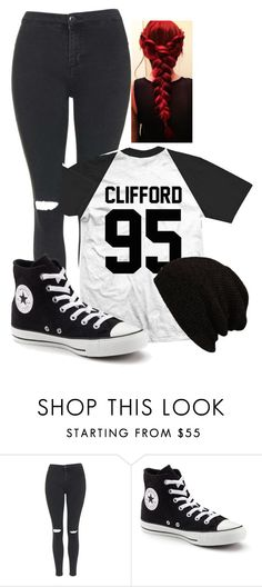 """Mrs clifford <3"" by theresa918 ❤ liked on Polyvore featuring Topshop and Converse"