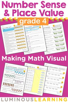 Math word problem challenges worksheets cool math stuff grade 4 number sense place value workbook making math visual fandeluxe Gallery