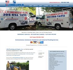plumbing and septic company in miami html website by eva gustafsson http://usaplumbingandseptic.com