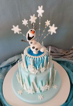 New Birthday Cake Girls Frozen Daughters Ideas 3rd Birthday Cakes For Girls, Olaf Birthday Cake, Bithday Cake, Frozen Birthday Party, Cool Birthday Cakes, Frozen Party, Birthday Ideas, 4th Birthday, Olaf Cake