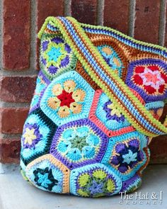 Boho Bag - an african flower tote via Craftsy