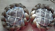 As the Needle Passes: Faux Braided hair buns