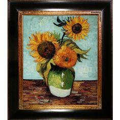 overstockArt Van Gogh Sunflowers First Version Oil Painti...