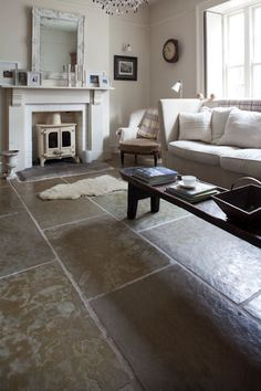 Impressive large format Jaipur Brushed Limestone creates a perfect flagstone floor and suits a wide range of interiors, both modern and traditional.