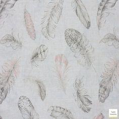¡¡¡Lo último en decoración, estampados de plumas!!! Disponible en nuestra tienda con 2,80mtr de ancho. #plumas #decoracion #estampados #lonetas #telas