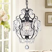 Shop for Rosalie Antique Bronze Crystal Chandelier. Get free delivery On EVERYTHING* Overstock - Your Online Ceiling Lighting Store! Get in rewards with Club O! Black Chandelier, Chandelier Shades, Chandelier Lighting, Small Bathroom Chandelier, Bathtub Lighting, Country Chandelier, Chandelier Bedroom, Bedroom Ceiling
