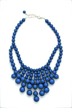 Indigo Statement Necklace