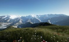 Unreal Engine 4 PhotoRealistic Mountains
