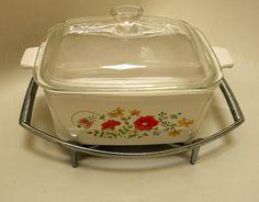 Corning Ware WILD FLOWERS Casserole Dish by CreekLifeTreasures, $24.99