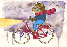 Lovely little illustration. Amelia's Bike by Column artist TXLW