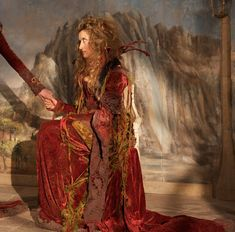 Natasha McElhone in the movie, The Secret of Moonacre.  Is that amazing costuming?