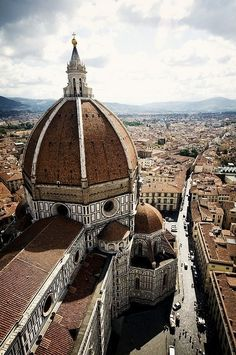 """Santa Maria del Fiore (also known simply as the Duomo) is the cathedral of Florence known for its distinctive Renaissance dome. Its name (""""Saint Mary of the Flower"""") refers to the lily, the symbol of Florence. Places Around The World, Oh The Places You'll Go, Places To Travel, Places To Visit, Around The Worlds, Wonderful Places, Beautiful Places, Wonderful Time, Simply Beautiful"""