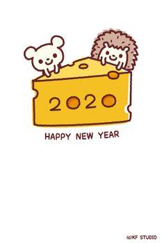 2020年賀状02 | KF STUDIO Dragon Dance, Pop Art Design, Year Of The Rat, New Year Card, Chinese New Year, Happy New Year, Banner, Studio, Mice