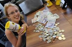 Alice, our Head of Fundraising, with the total of donations we collected in under 2 hours! Go Bananas, How To Raise Money, Fundraising, Charity, Alice, Fundraisers