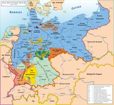 German Empire -de - History of Germany - Wikipedia… - German Empire -de – History of Germany – Wikipedia… - European History, World History, Art Dégénéré, German Confederation, History Of Germany, Germany And Prussia, Germany Poland, East Germany, Old Maps