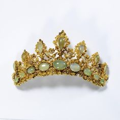Gold and Cryshoprase Tiara, 1838, Victoria and Albert Museum.