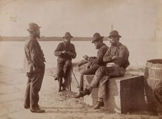 Frank Meadow Sutcliffe (1853-1941) - Fisher Folk (Whitby Fishermen), ca. 1885