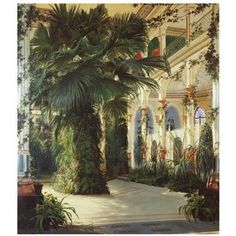 Interior of a Palm House - Poster by Carl Blechen