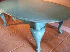 DIY Inspiration   Painted, Glazed U0026 Distressed Furniture. Shabby Chic Coffee  TableOrange ...