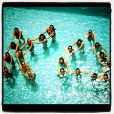 Greek Letters | Kappa Delta | KD human sorority letters in pool, cute! #greek #sorority #sisterhood