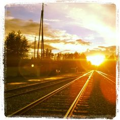 Railroad sunset