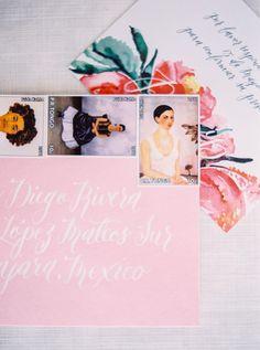 wedding invitation envelopes, photo by Milton Photography http://ruffledblog.com/blooming-wedding-inspiration #weddingideas #weddinginvitations